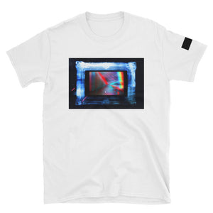 "FRAME00 Art T-Shirt ""RGBeach (Holographic Frame Variant)"" - ART GOODS SHOP"