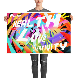 "Premium Art Poster ""Fight for Health, Love, Creativity"" - ART GOODS SHOP"
