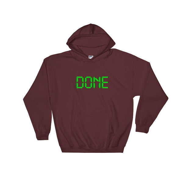 "Hooded Sweatshirt ""DONE"" for Your Kanban Board - ART GOODS SHOP"