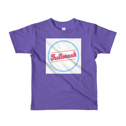 "Short sleeve kids t-shirt ""Fullstack"" (2-6 yrs) - ART GOODS SHOP"