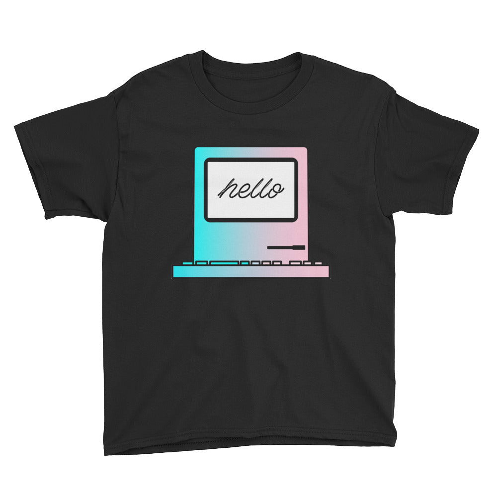 "Kids Developer's t-shirt ""Hello Computer"" (8 yrs-) kids clothes - ART GOODS SHOP"