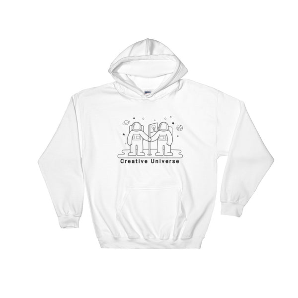 "Hooded Sweatshirt ""Creative Universe"" - ART GOODS SHOP"