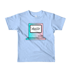 "Kids Developer's t-shirt ""Hello Computer"" (2-6 yrs) kids clothes - ART GOODS SHOP"