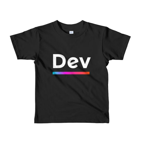 "Short sleeve kids t-shirt ""Dev"" (no copy) (2-6 yrs) - ART GOODS SHOP"