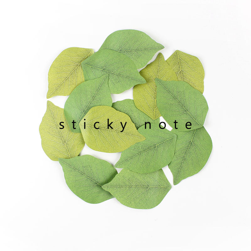 Leaf Memo Pad Sticky Notes stationery - ART GOODS SHOP