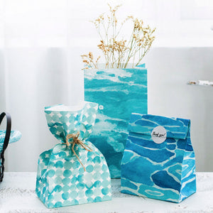 [3pcs/set] Blue ocean Paper Gift bag 23*13cm Party - ART GOODS SHOP