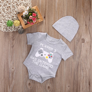 Cool Baby Enter the Game Rompers Jumpsuits +Hat (6-18M) kids clothes - ART GOODS SHOP