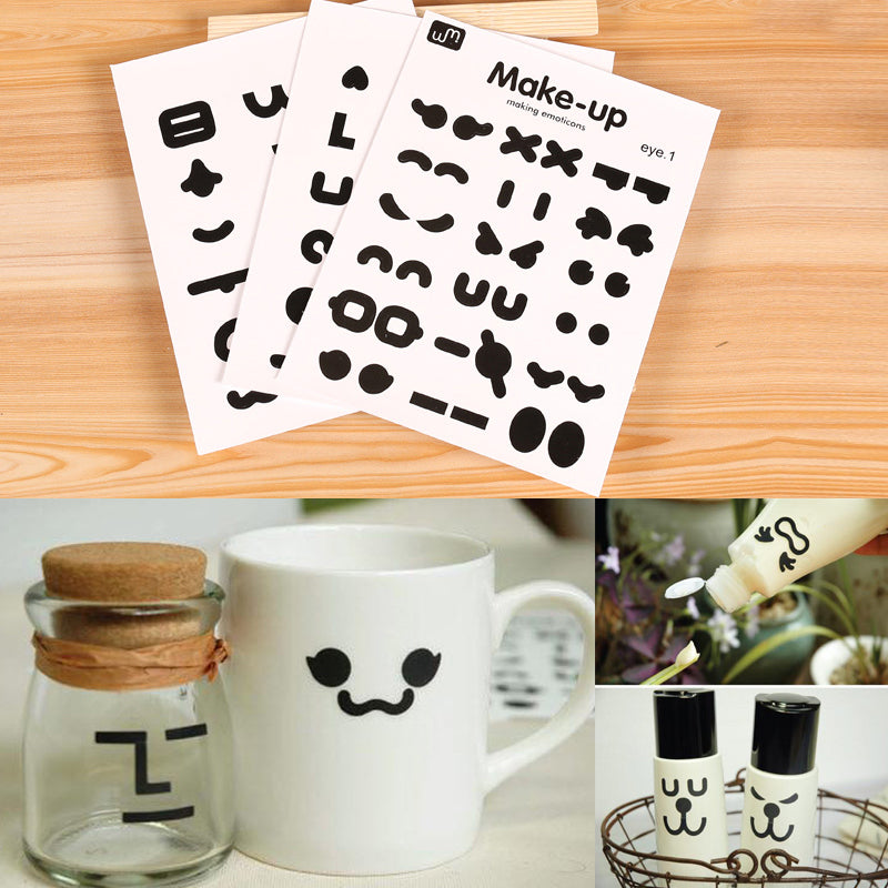 [3 pcs/Set] Smiling face waterproof stickers Korean Stationery - ART GOODS SHOP