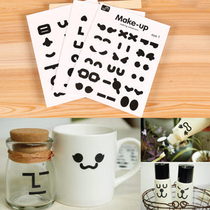 [3 pcs/Set] Smiling face waterproof stickers - ART GOODS SHOP