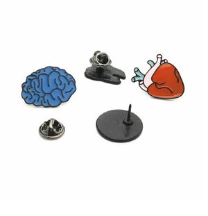 Brain Heart Eye Tooth Large Enamel Art Brooches Pins  - ART GOODS SHOP
