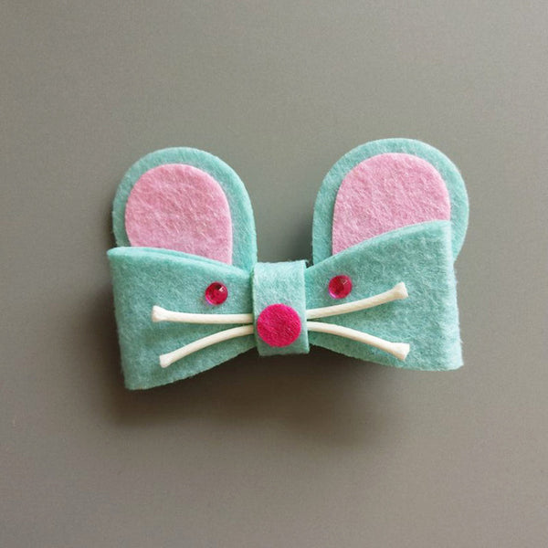 Handmade Rabbit Cat Hair Clips for Kids - ART GOODS SHOP
