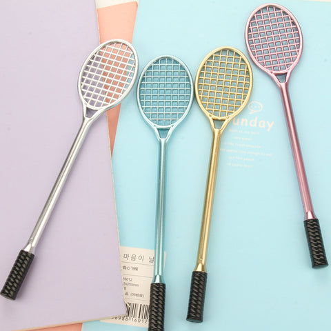 Creative Sports Badminton Racket Plastic Gel Ink Pen Korean Stationery - ART GOODS SHOP