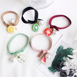 Summer Fruit Pearl Elastics Hair Holders Hair Bands  - ART GOODS SHOP