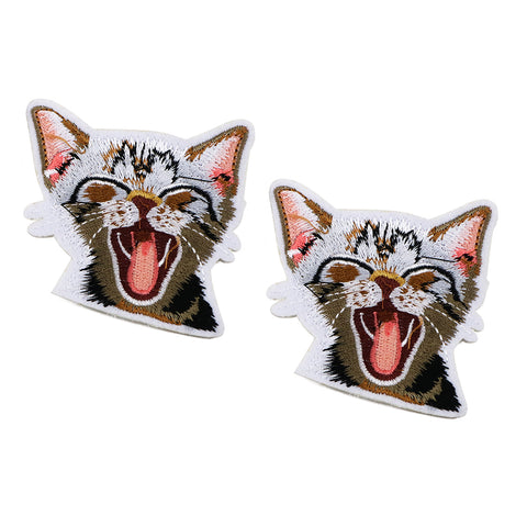 Cute Cat Embroidery Art Patches For T-Shirts and Sweatshirts - ART GOODS SHOP