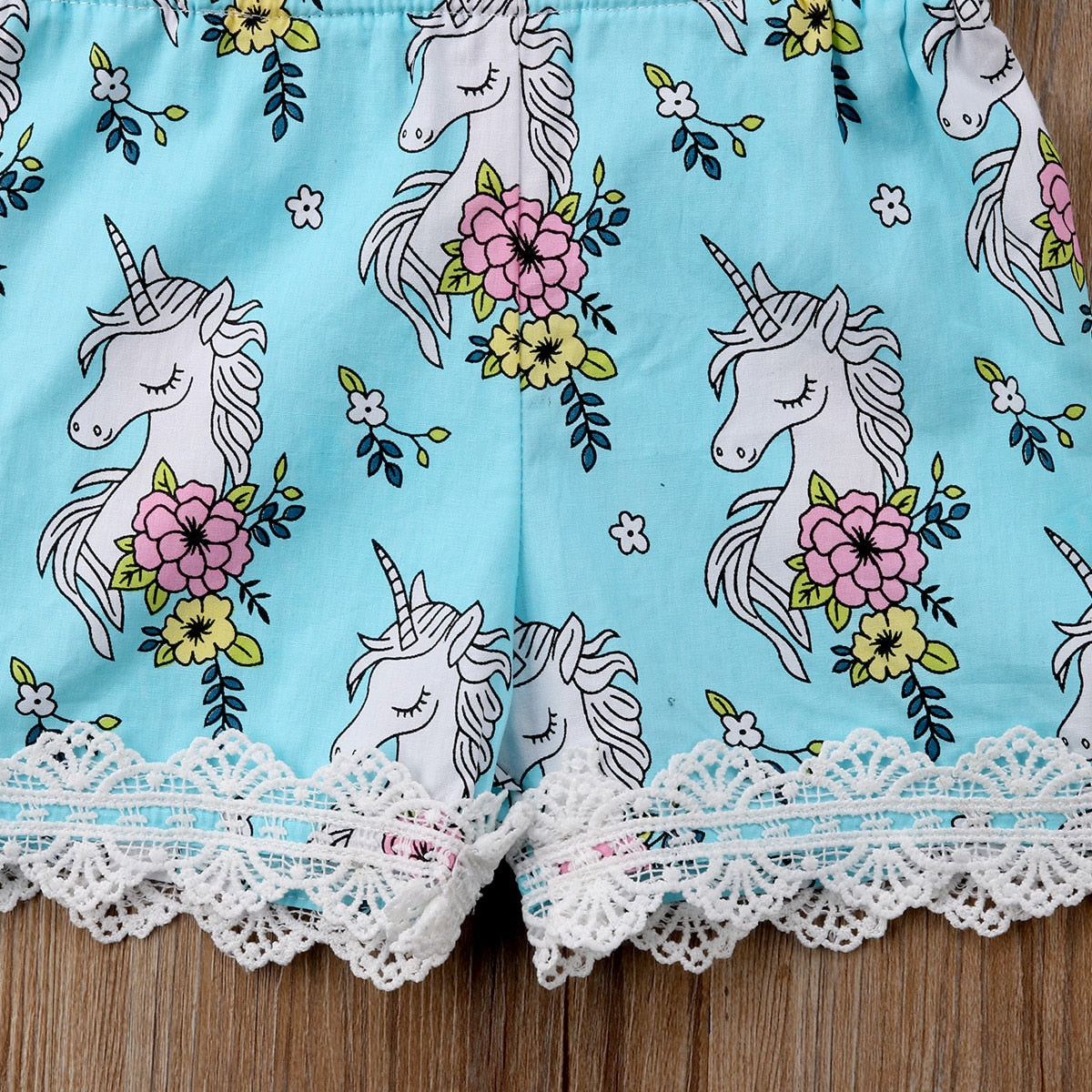Cute Baby Girls Lace Unicorn Romper Patchwork Jumpsuit (6-24M) kids clothes - ART GOODS SHOP