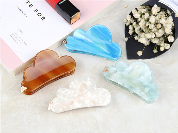 Pastel Dream Clouds Hair Clips - ART GOODS SHOP