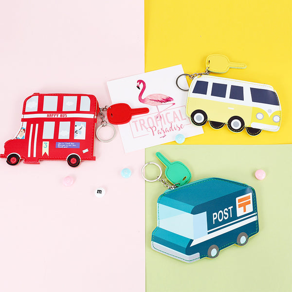 Creative Bus Mini Wallet Coin Purse Key Holder for childern - ART GOODS SHOP