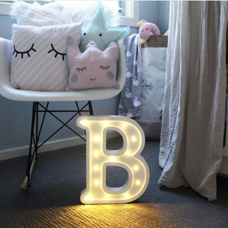 Hot Luminous LED Letter Night Light 26 English Alphabet Number Battery Lamp Party Decoration Photography Prop - ART GOODS SHOP