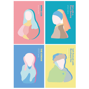 Art Characters Mona Lisa Cute Memo Pad Sticky Notes  - ART GOODS SHOP