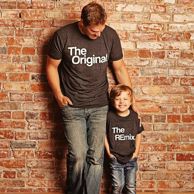 "Father Kids Family Matching T Shirts ""The Original"" & ""The Remix"" (3-10yrs) kids clothes - ART GOODS SHOP"
