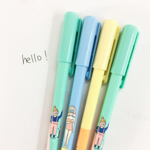 [4pcs/Set] Korean Cool Summer Lovely Girl Gel Pens  - ART GOODS SHOP