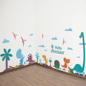 Cartoon Colorful Dinosaur Wall Stickers Art for kids rooms nursery children decals Wall Stickers - ART GOODS SHOP