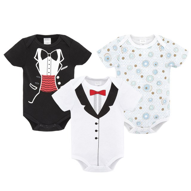 [3pcs/Set] Cute Fox, Cat, Flowers Mixed Baby Rompers Jumpsuit Baby Boy & Girl Clothes (3-12M) kids clothes - ART GOODS SHOP