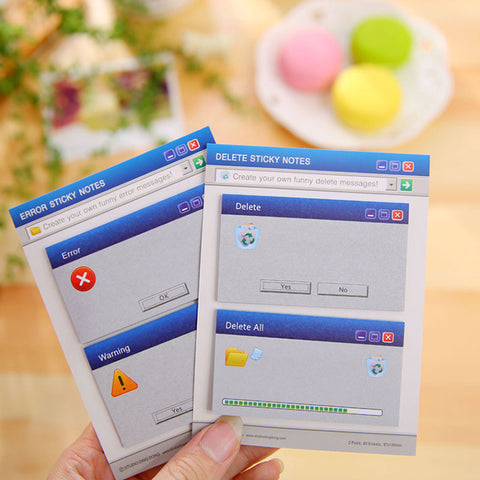 Computer System Shape Memo Pad Creative DIY Sticky Notes - ART GOODS SHOP