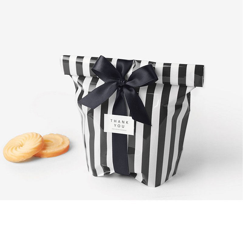 [10Pcs/Set] Cute Bow Tie Stripe Gift Bags Party - ART GOODS SHOP
