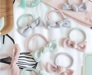 Korean Cute Chiffon Elastic Hair Bows cute hair accessories - ART GOODS SHOP