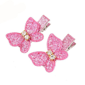 [1Pair] Cute Butterfly Glitter Kids Hair Clips Kids Hair Accessories - ART GOODS SHOP