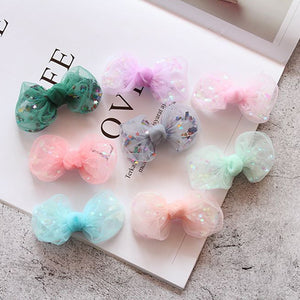 Cute Tulle Star Bow Hair Clips Kids Barrettes Kids Hair Accessories - ART GOODS SHOP