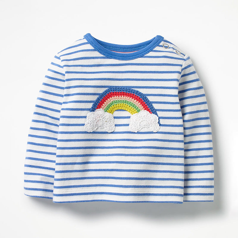 Rainbow & Unicorn Embroidery Kids Long Sleeve Tops (2-7Yrs) kids clothes - ART GOODS SHOP