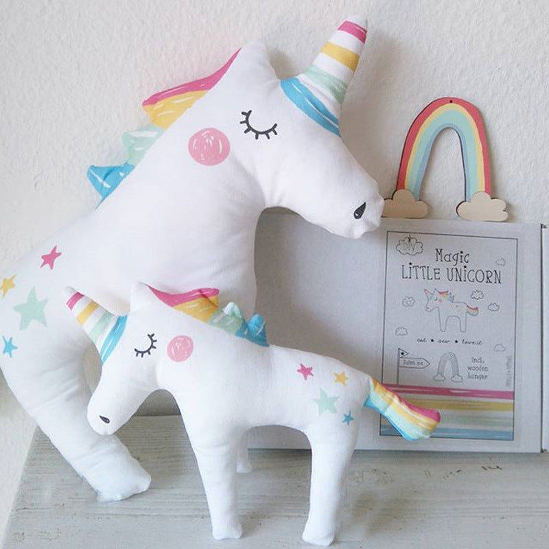 Cute Unicorn Sleep Pillow Baby Child Kids Plush Toy M/L/LL Photography Prop - ART GOODS SHOP