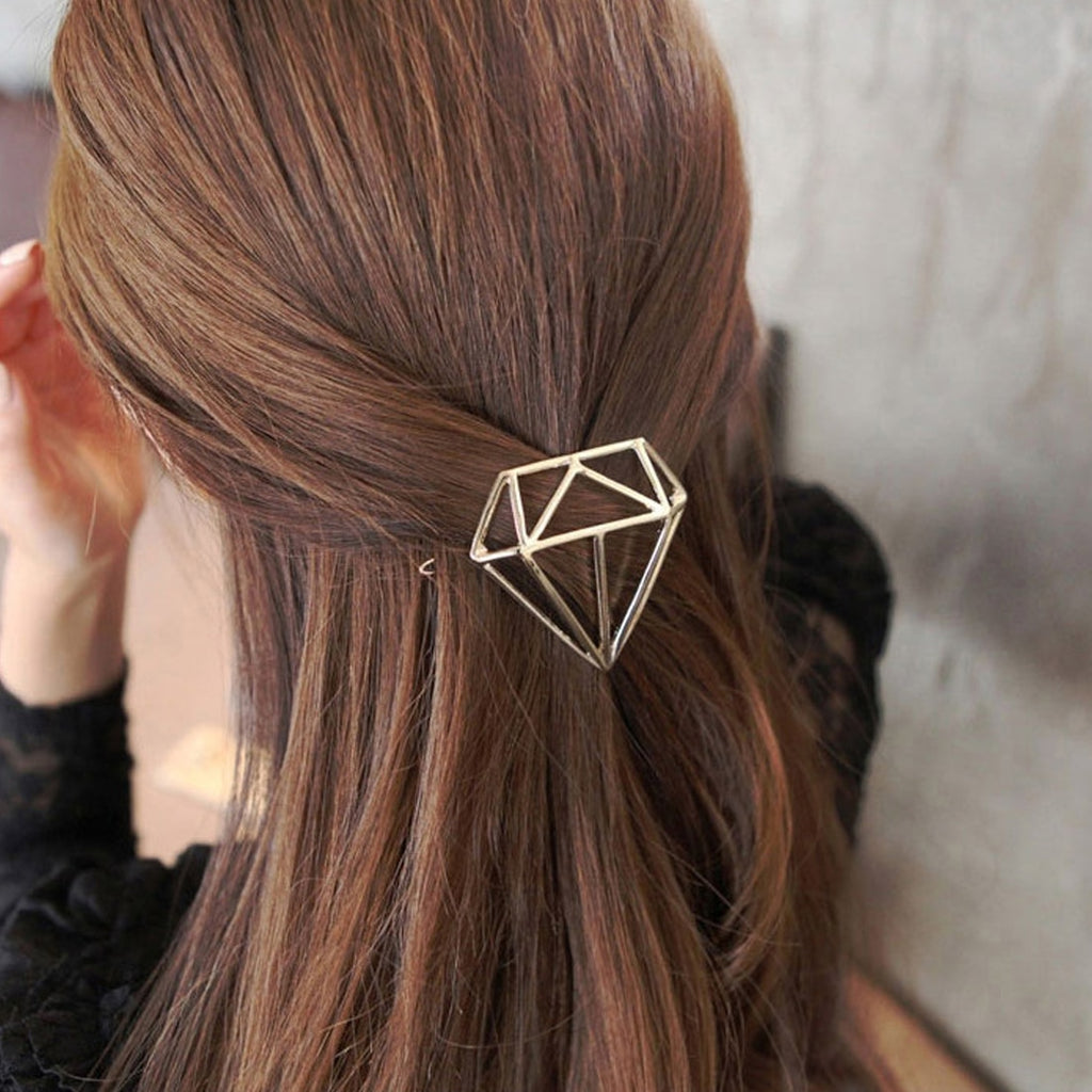 Diamond Metal Hollow Hair clip cute hair accessories - ART GOODS SHOP