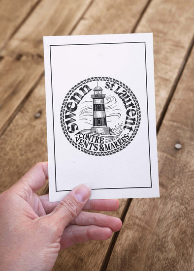 lighthouse small card//petite carte phare