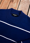 crop sweater - monaco blue//chandail court - bleu monaco