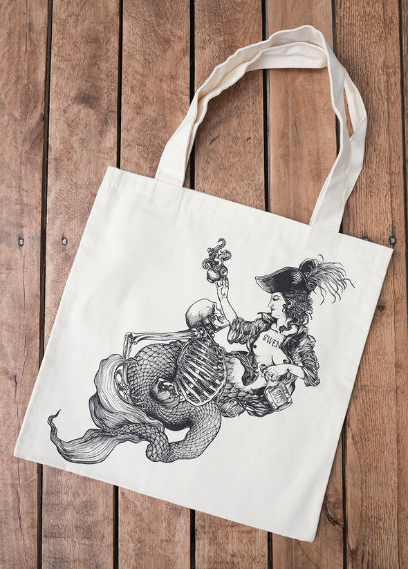 cotton totebag - mermaid //sac en coton - sirène