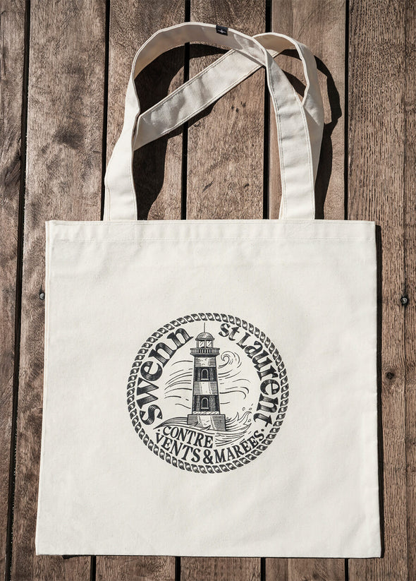 LIGHTHOUSE COTTON TOTE BAG//SAC EN COTON PHARE