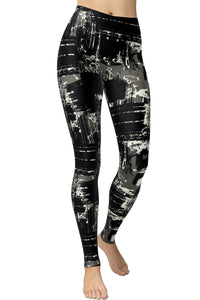 Printed Brushed Leggings - Urban Goth