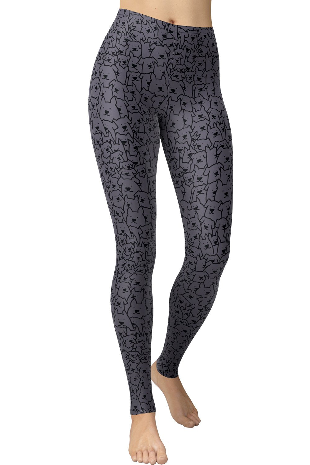 Printed Brushed Leggings - Wheres Puppy (Digital Print)