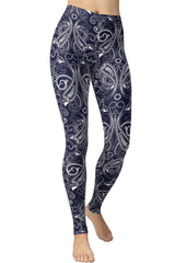 Printed Brushed Leggings - Paisley Freedom
