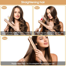2-in-1 Gold Iron Pro Hair Curler and Straightener - The Audacious Boutique