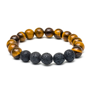 Tiger Eye Oil-Diffuser Bracelet