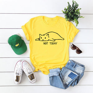 Not Today Shirt Cute Cotton T Shirt - The Audacious Boutique