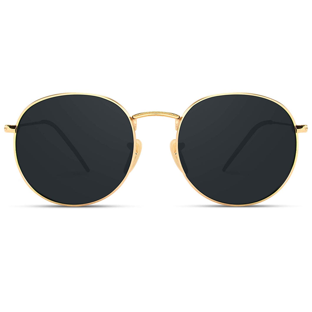 Trendy Sunglasses Reflective Round Lens - The Audacious Boutique