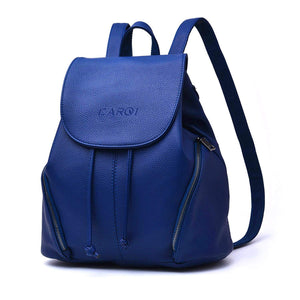 PU Leather School Backpack Waterproof Casual Daypack Purse Bag - The Audacious Boutique