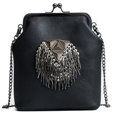 PU Leather Tassel Crossbody Chains Shoulder Messenger Bags
