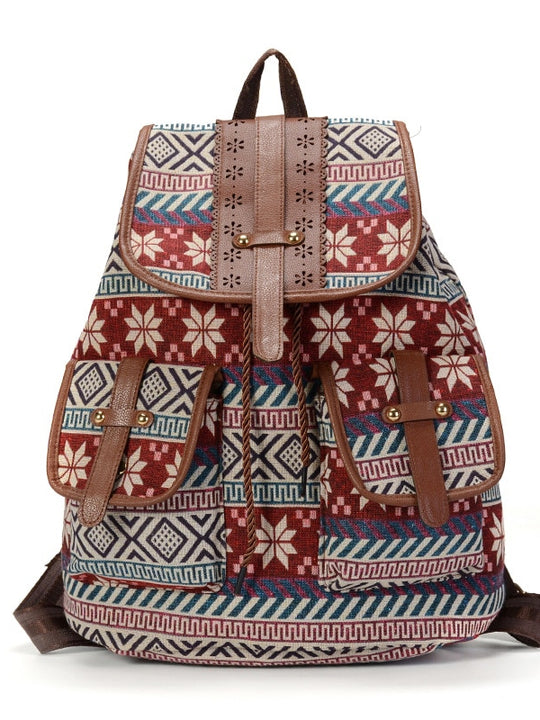 Bohemian Vintage Backpack Handbag