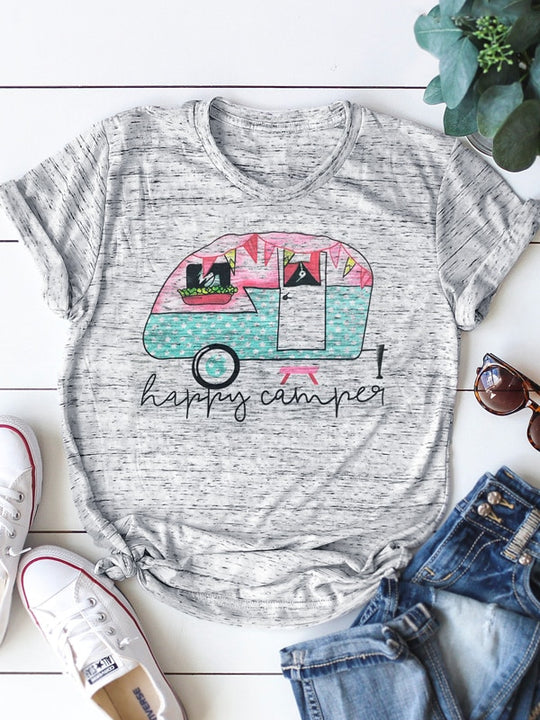 Colorful Happy Camper T-Shirt